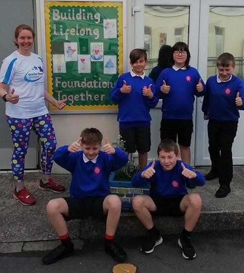 Pupils at All Saints Marsh take part in 'Walk to School Week'
