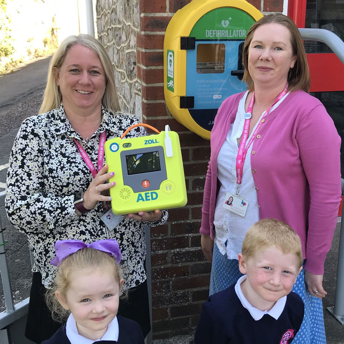 Ellacombe C of E Academy's charitable efforts have led to the installation of life saving equipment for the whole community